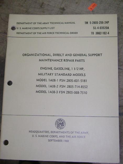 Gasoline Engine (models 1A08-1, 1A08-2, 1A08-3), Manual