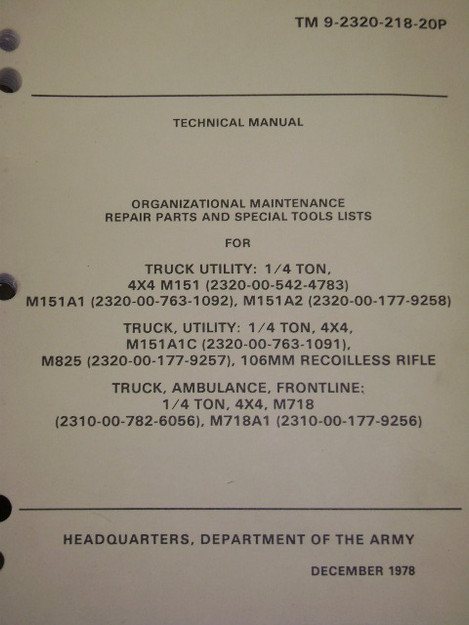 Utility Truck Technical Manual