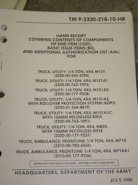 Utility Trucks Contents of Components