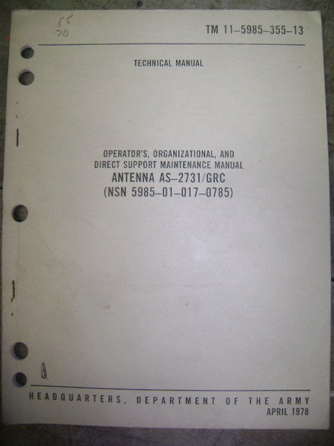 Antenna (AS-2731/GRC) Technical Manual