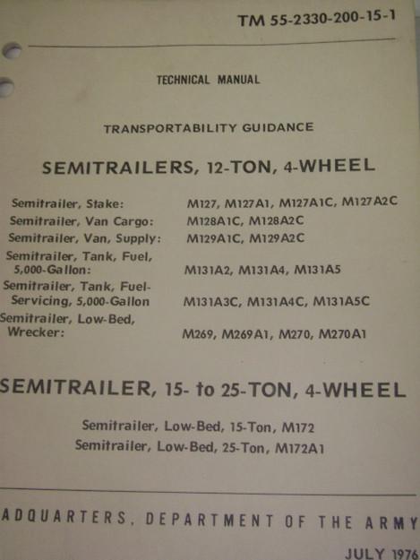 Semitrailers Transportability Guidance Manual