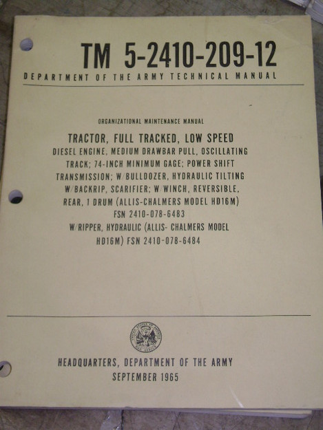 Full Tracked Tractor Manual