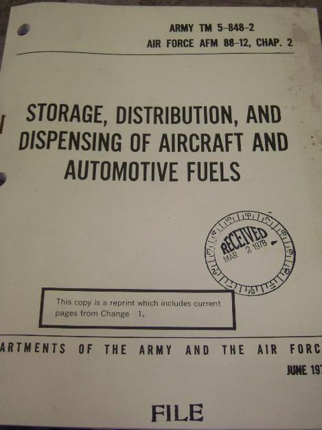 Storage, Distribution, and Dispensing Various Fuels Manual