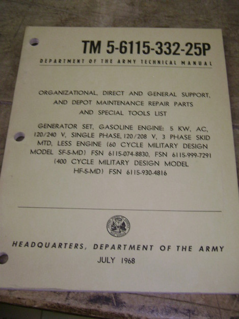 U.S. Military Generator Sets Technical Manual