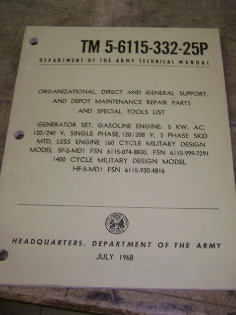 U.S. Military Generator Sets Technical Manual