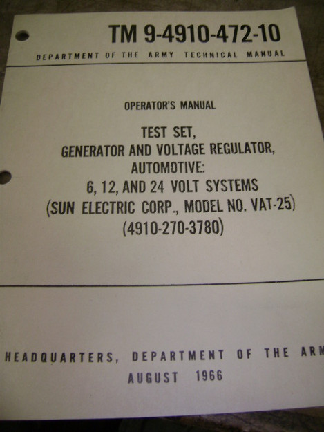 Generator and Voltage Regular Test Set Manual