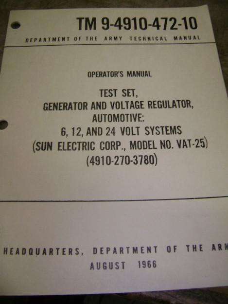 Generator and Voltage Regular Test Set Manual