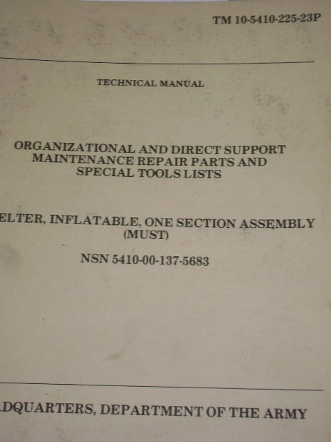 Inflatable Shelter Assembly Manual