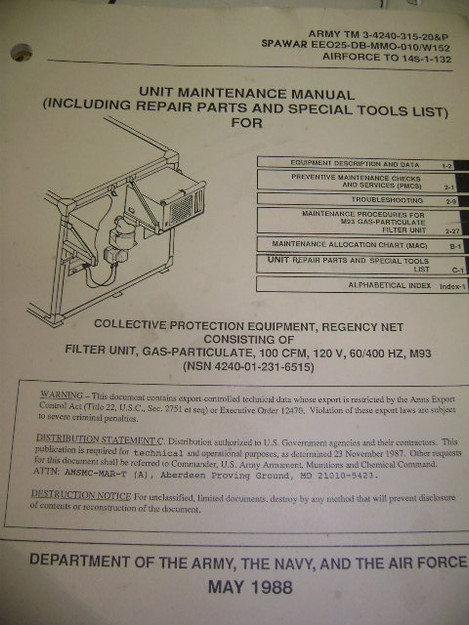Gas-Particulate Filter Unit Maintenance Manual