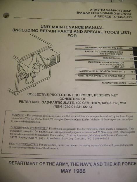 Gas-Particulate Filter Unit Maintenance Manual