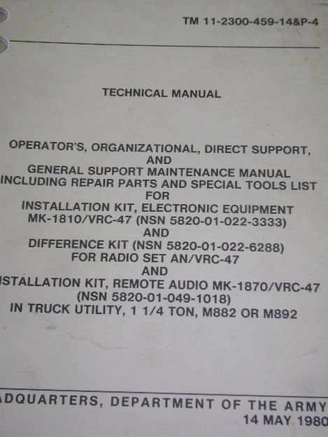 Installation Kit Technical Manual