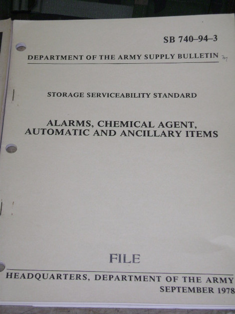 Storage Serviceability Standard Alarm for Chemical Agents