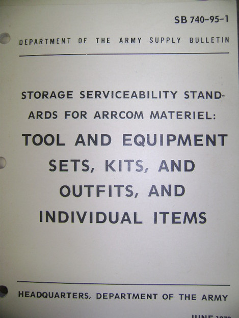 Storage Serviceability Standards for ARRCOM Material