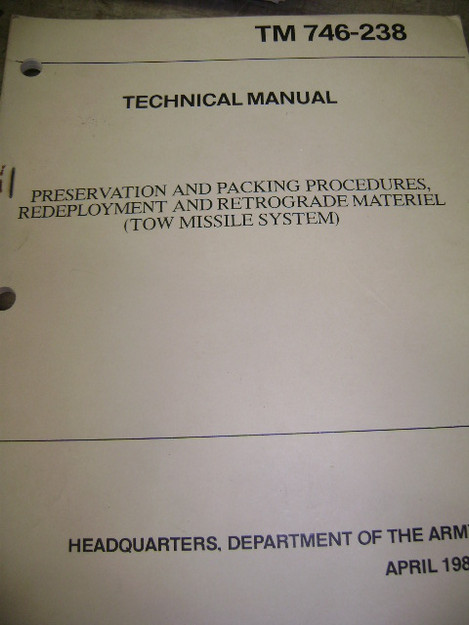 Preservation and Packing Procedures for Tow Missile System