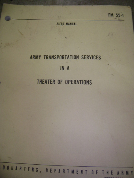 Army Transportation Services in a Theater of Operations
