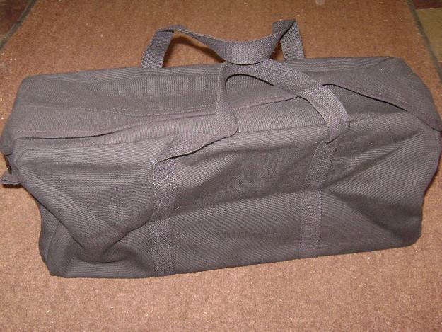 Black Tanker Style Tool Bag