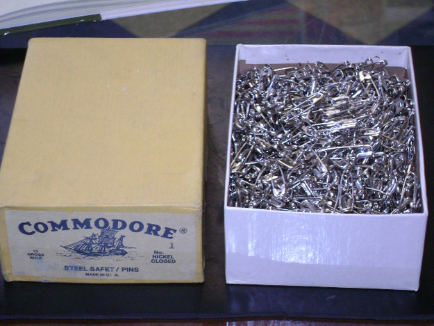 WWII U.S. Army Commodore Steel Safety Pins