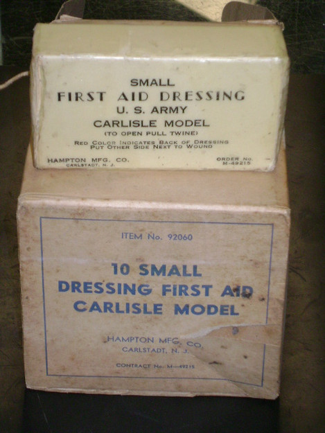 WWII U.S. Army First Aid Dressing (Carlisle model, single box)