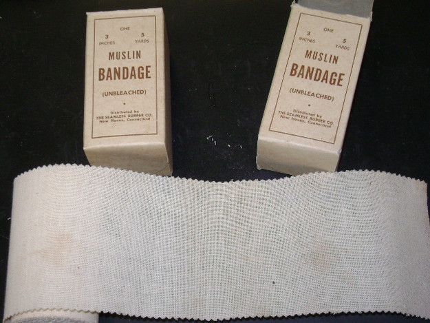 WWII U.S. Army Muslin Bandage (unbleached)