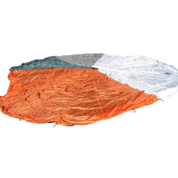 U.S. Air Force 28' Orange/Green/White/Tan Nylon Parachute