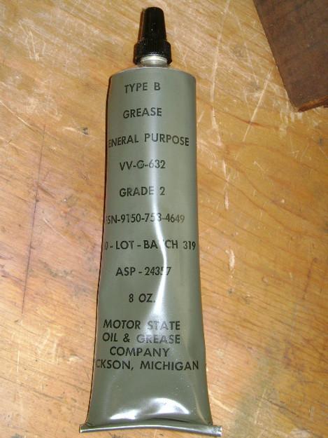 U.S. Military General Purpose Grease (type B)