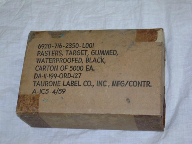 U.S. Military Gummed Target Pasters (black)