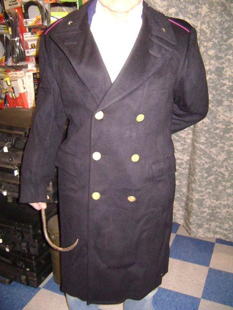 Italian Police Wool Overcoat