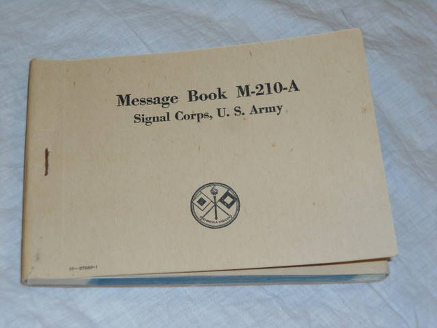 WWII U.S. Army Signal Corp M-210-A Message Book