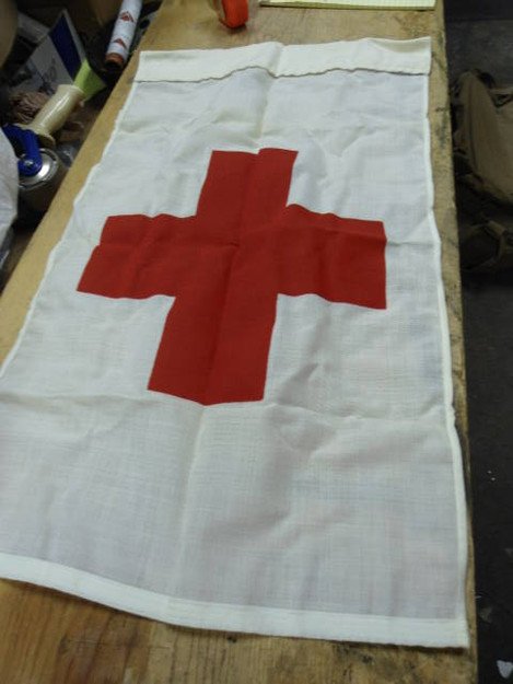 U.S. Military 1964 Red Cross Flag