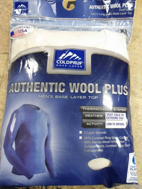 ColdPruf Authentic Wool Plus Base Layer Top