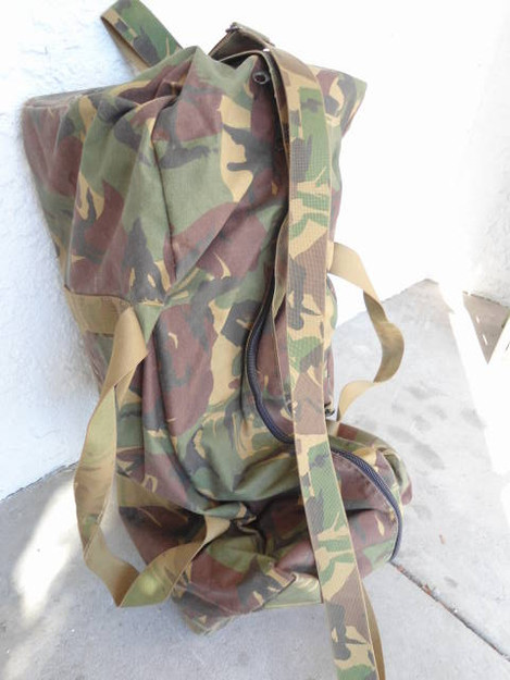 Dutch Army Camouflage Duffle Bag
