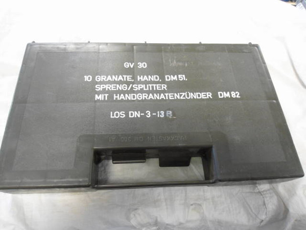 German Army Hand Grenade Storage Box