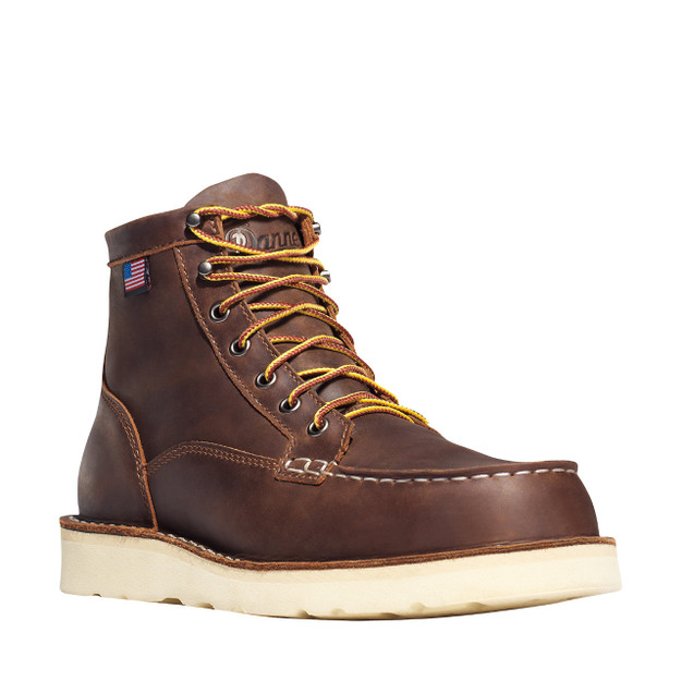 Danner Men's Bull Run Moc Toe 6″ Brown Boots