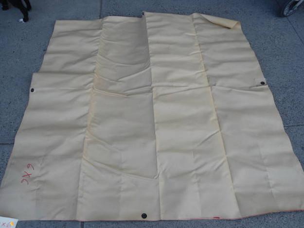 U.S. Military Grade Heavy Vinyl Tarp (tan 4′6″ x 10′)