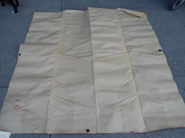 U.S. Military Grade Heavy Vinyl Tarp (tan 10′ x 10′6″)