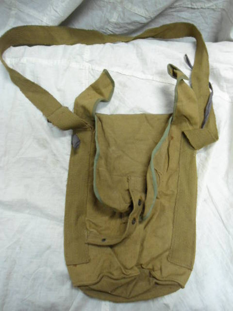 Canvas European Surplus Gas Mask Bag