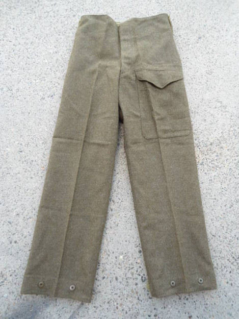 Canadian Army Surplus Wool Pants - front view