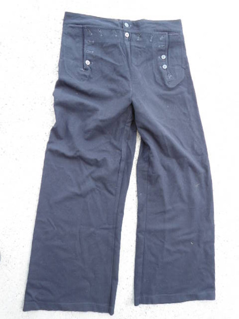 Vintage US Navy 13 Button Wool Trousers
