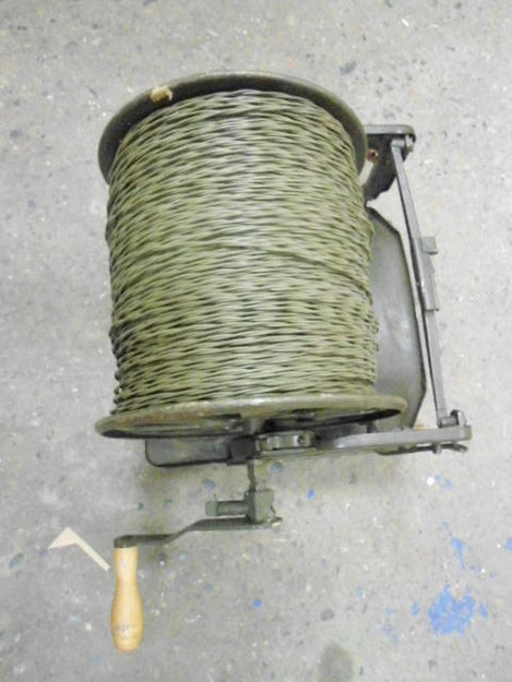 Polish Army Communication Wire (.25 mile) with Frame