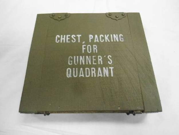 U.S. Military WWII Era Gunner's Quadrant Box