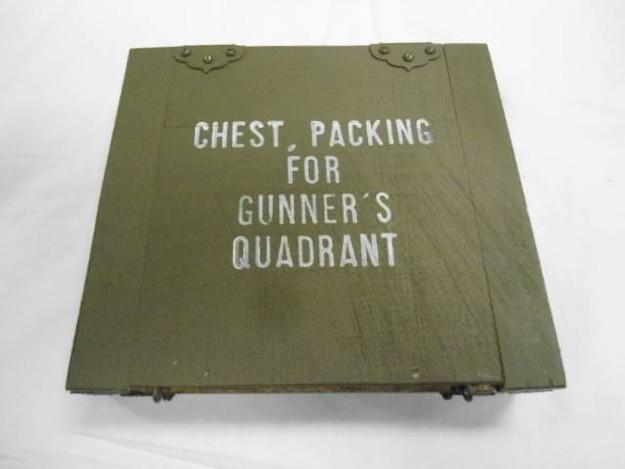 U.S. Military WWII Era Gunner's Quadrant Box