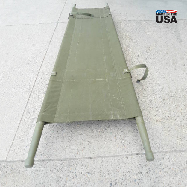 U.S. Military Canvas Stretcher (Vietnam War Era)