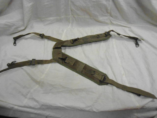 U.S. Military Nylon Field Pack Suspenders (dated 1968)