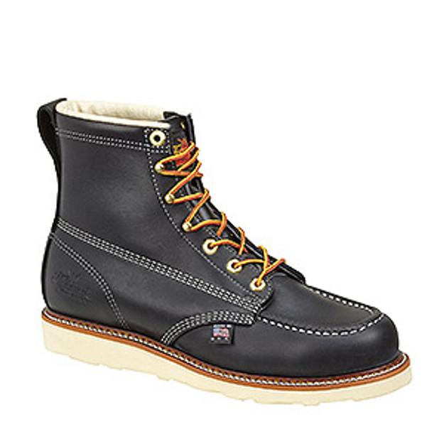 Thorogood Men's 814-6201 6″ Black Moc Toe Boots