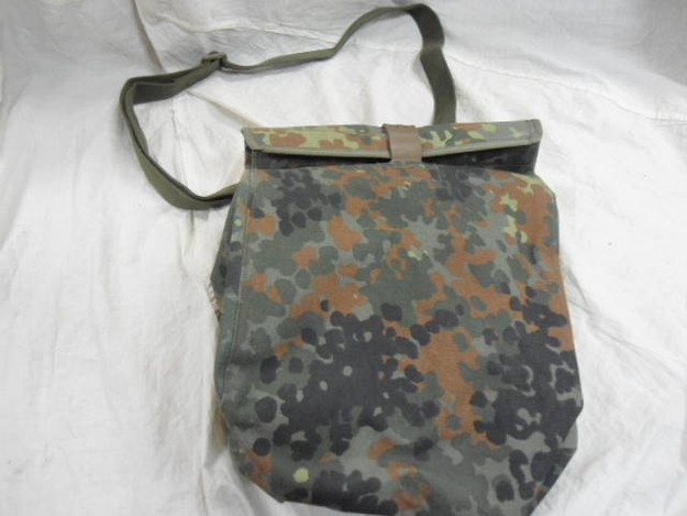 German Army Flectar Camouflage Gas Mask Bag