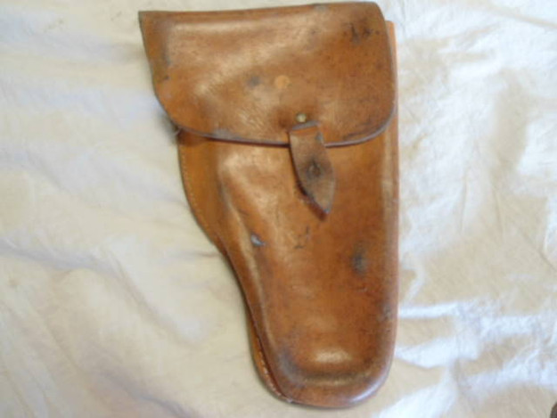 Serbian Army Scorpion Firearm Leather Holster