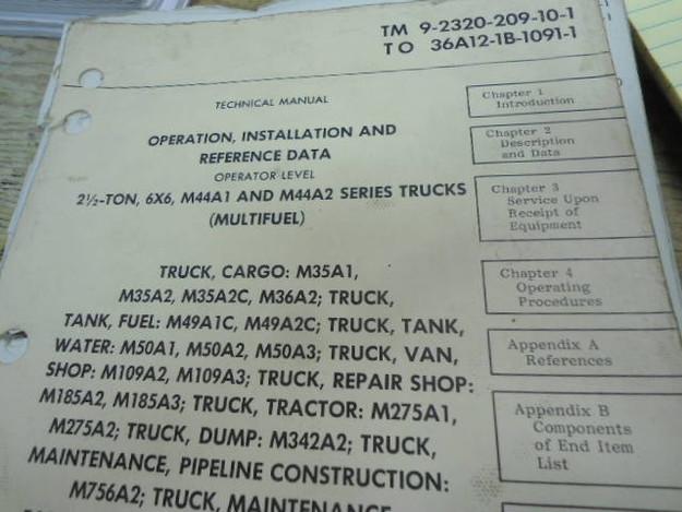 U.S. Army TM 9-2320-209-1 M44A1/A2 Truck Series Manual