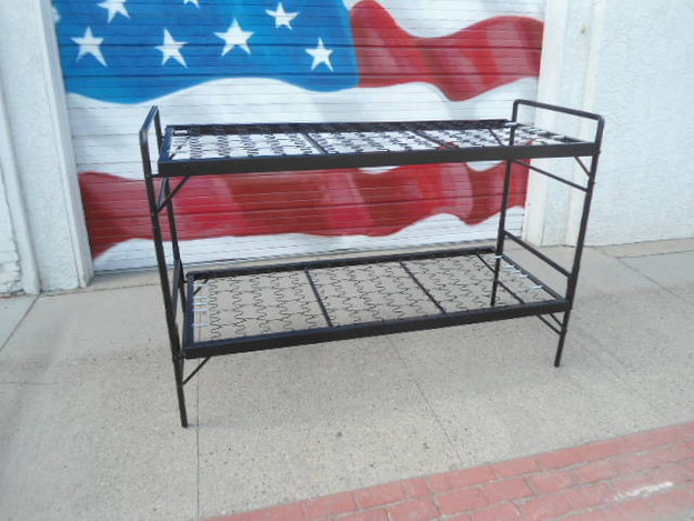 U.S. Military Style Steel Bunk Bed Set