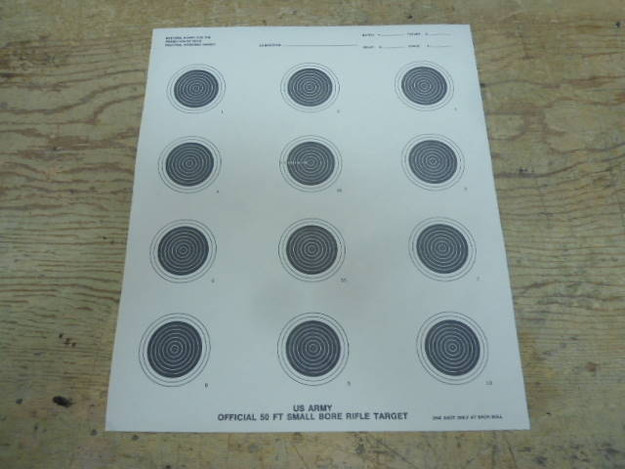 US Army 50 ft. Small Bore Rifle Target