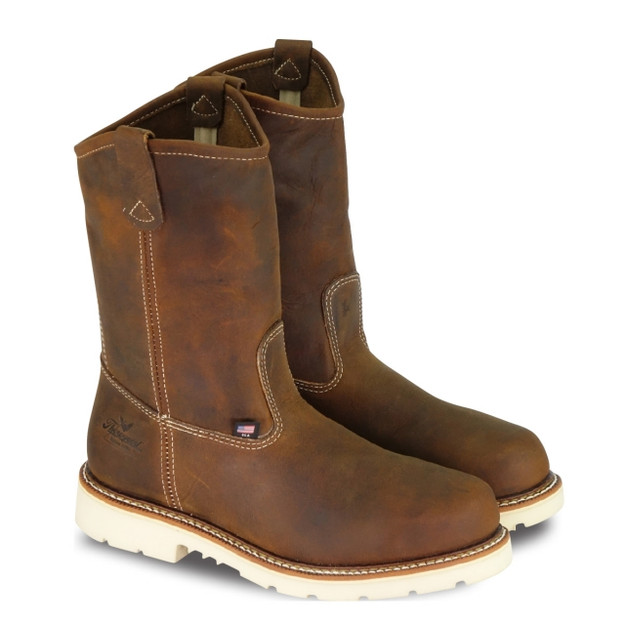 Thorogood Men's 804-4372 American Heritage 11″ Safety Toe Wellington Boots